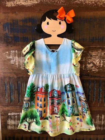 Vestido Infantil - Estampa Exclusiva - Tamanho 6