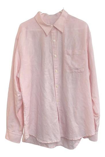 Camisa Tommy Bahama De Lino Color Rosa De Hombre Talla Xl