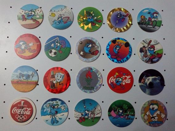 36 Tazos Olimpiadas 1996 Coca Cola Pog Colección Completa