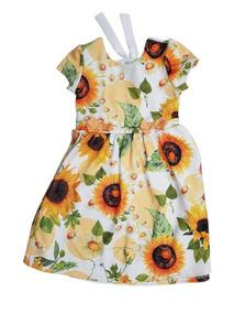 6b15c022dd Vestido Girassol Infantil - Vestidos no Mercado Livre Brasil