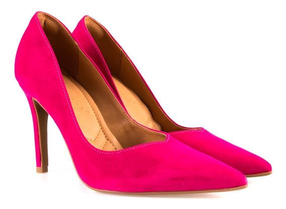 Sapato Scarpin Bebecê Bico E Salto Fino - Frete Grátis