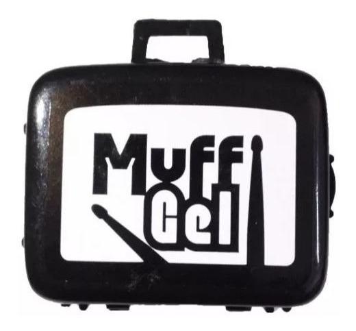 Muff Muf Meffer Gel Com 6 Abafadores Luen Bateria Abafador