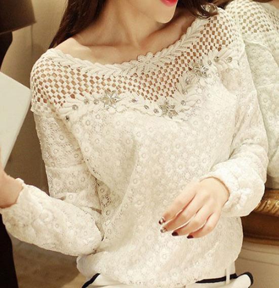 Blusa Camisa Feminino Social De Renda Foto Real
