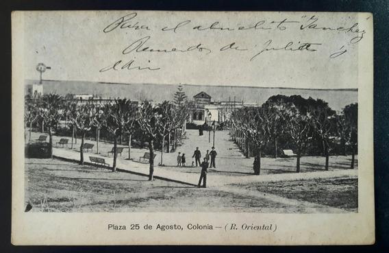 Antigua Postal Plaza 25 De Agosto Ciudad De Colonia Uruguay