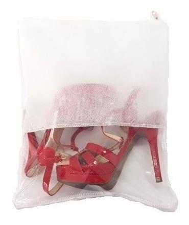 Saco Para Sapato Com Zíper - Kit Com 15 - 33x40cm - Visor G