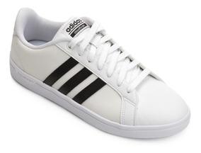 Tenis adidas Cloudfoam Masculino Branco Off White Preto