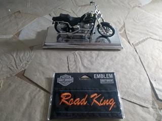 Miniatura Harley Davidson Fxst Softtail 1984 + Brinde