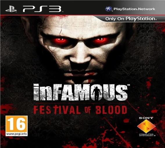 Jogo Ps3 Infamous Festival Of Blood Psn