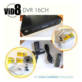 Dvr Camera Segurança 16 Canais O Melhor Kit C/ 4 Câmera