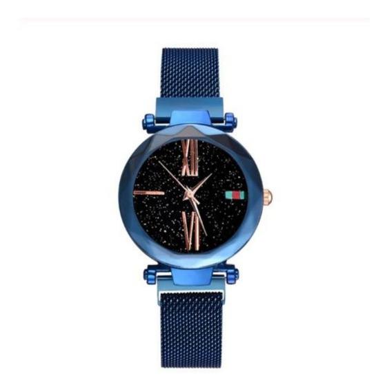 Relógio Feminino Pulso Céu Estrelado Magnético Super Fashion