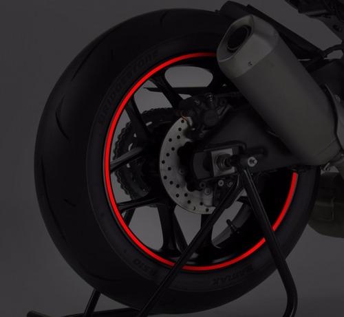 Cinta Reflectiva Moto Tunning Roja Puig Llanta 16 A 18