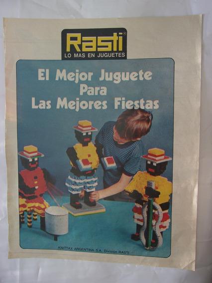 Láminas Antiguas Anteojito Publicidad Rasti X 4 Originales