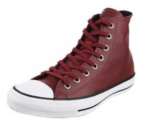 Zapatillas Converse Botitas Chuck Taylor Leather Hi Bordo