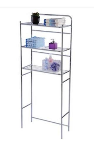 Mueble Organizador Para Baño En Metal 59.5x26x151.5 Cm