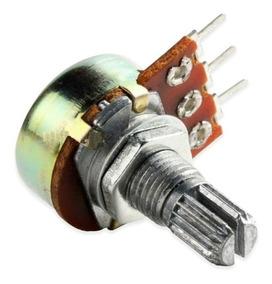 Potenciômetro Linear Rotativo S/chave 50k Eixo 20mm 100 Pças