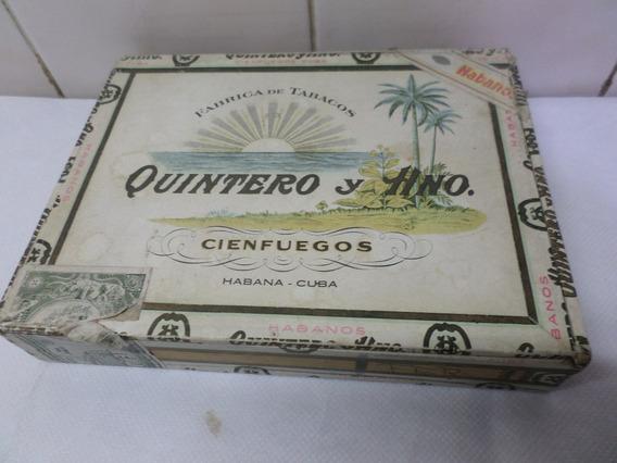 Caja De Habanos Vacia Quintero Y Hno Cuba Madera