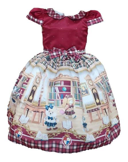 Vestido Infantil Festa Luxo Petit Cherie College 106