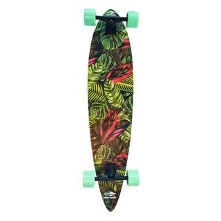 Skate Longboard Abec-7 Folhas Verde Mormaii