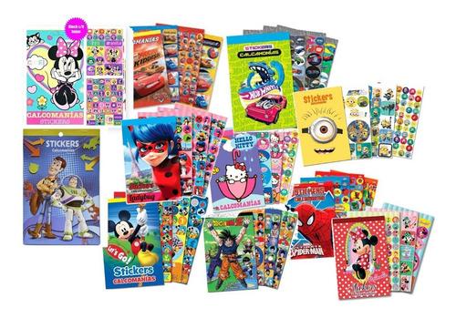 Imagen 1 de 9 de 12 Libros Block Sticker Calcomanias Personaje Surtido Premio