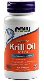 Krill Oil Now Foods 60 Cápsulas Óleo De Krill Importado Puro