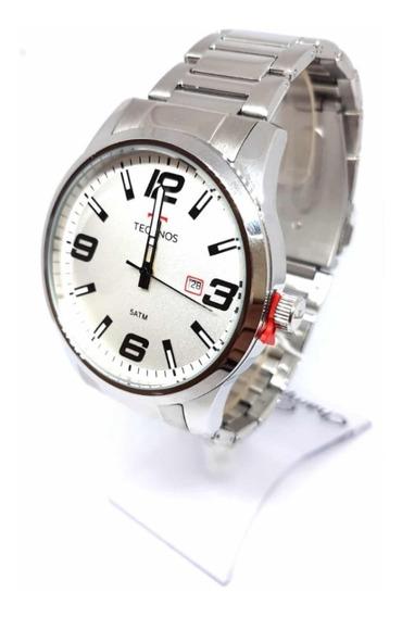 Relógio Technos Masculino Prateado 2115mol/1b