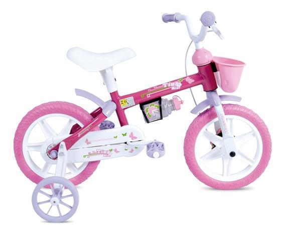 Bicicleta Infantil Aro 12 Em Plástico Tina Mini Houston