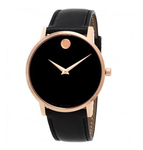 Reloj Movado 0607272 Cuero Negro Hombre