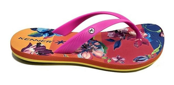 Chinelo Lips Floral Feminino Silicone Kenner 011732