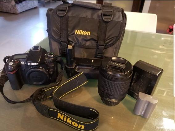 Nikon D90 Impecable. Con Lente 18-135 Y Grip