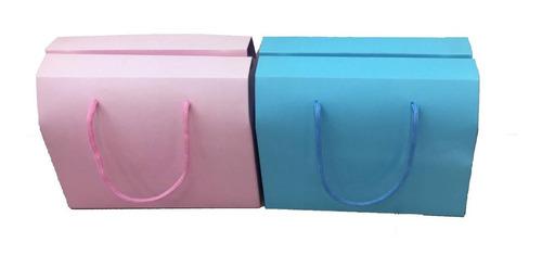 Caja Cartón Tipo Cartera En Colores X 12 Unidades