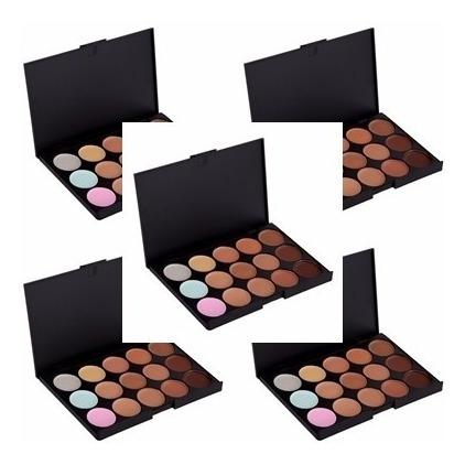 10 Paletas De Base Corretivo 15 Cores Maquiagem Profissional