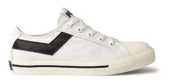 Zapatillas Pony Shooter Ox Canvas Blanco Wales Deportes