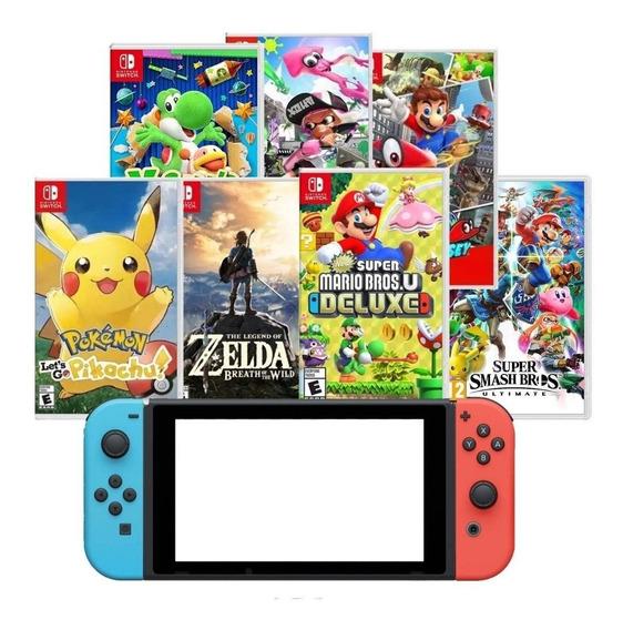 Console Nintendo Switch 32gb Neon Ou Gray + 1 Jogo A Escolha