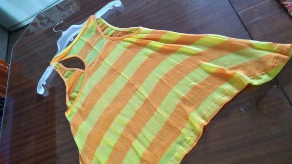 Musculosa De Hilo Rayada En Dos Colores T S/l