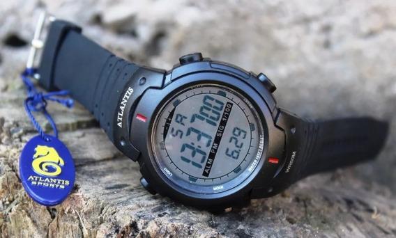 Relógio G Digital Atlantis Shock Militar Prova D´água Com Cx