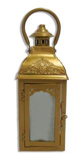 Farol Metálico Rectangular Porta Velas Para Decoración Hogar Centro Mesa Deco Fanal Decorativo Souvenir Suká