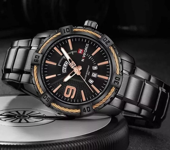 Relógio Masculino Luxo Naviforce Original Aço N9117 Frete 10