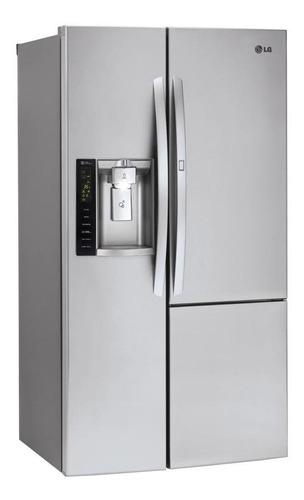 Imagen 1 de 3 de Heladera inverter no frost LG GS74SDS inox con freezer 690L 220V