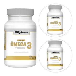 Kit 3x Ômega 3 60 Cáps - Br Nutrition Foods