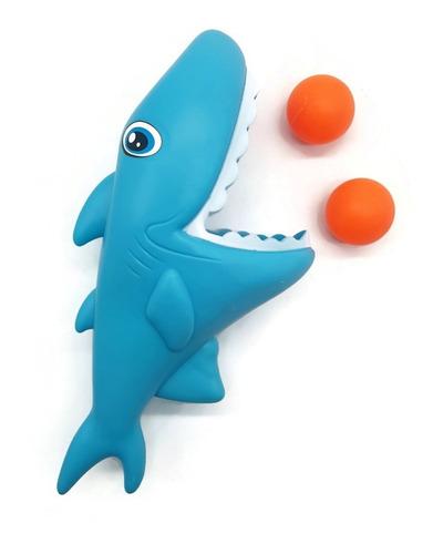Juguete Tiburón Gatillo Lanza Pelotas Juego Infantil Niños