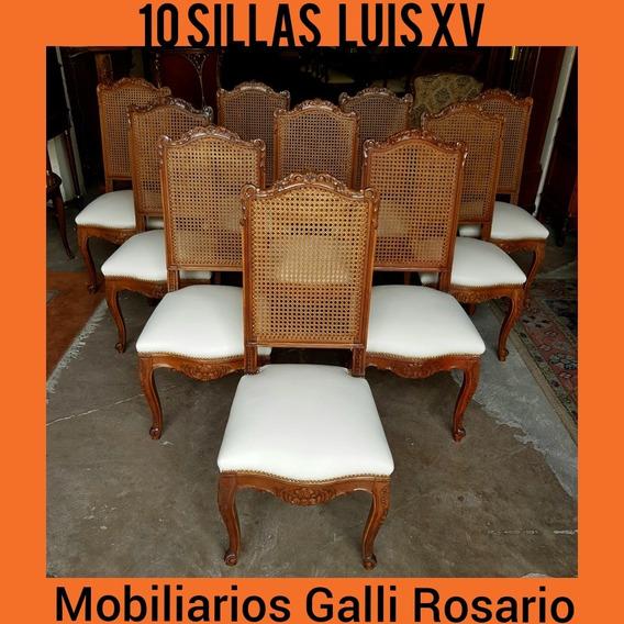 Mobiliarios Galli 10 Antiguas Sillas Luis Xv Inmejorables!!!