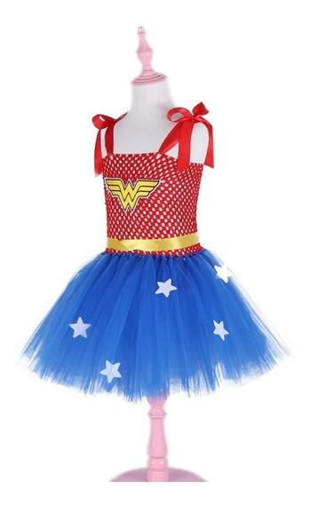 Disfraz Wonder Woman Con Tu-tu Niña