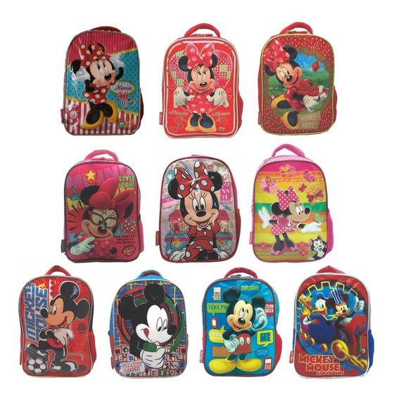 Mochila Espalda Jardin Disney Minnie Mickey Mundo Team
