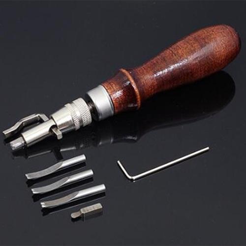 Juego de 37 herramientas de trabajo de cuero para costura a mano juego de estampado y fabricaci/ón de sillines Verdelife Leather Craft Tools