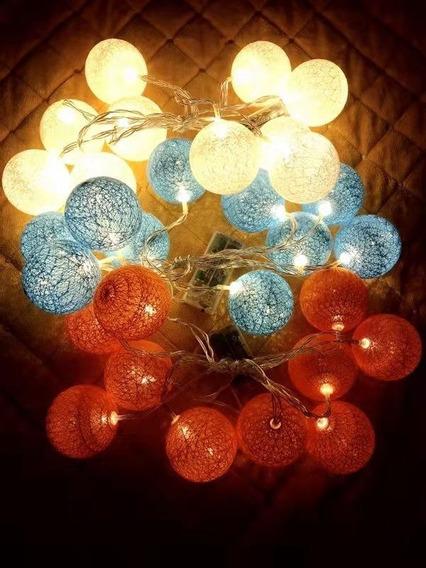 Luminária Cordão De 10 Bolas Led Decoração