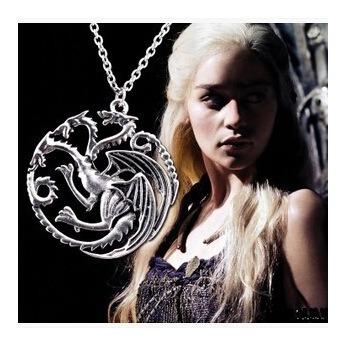 Colar Unisex Medieval Game Of Thrones Targaryen 10un