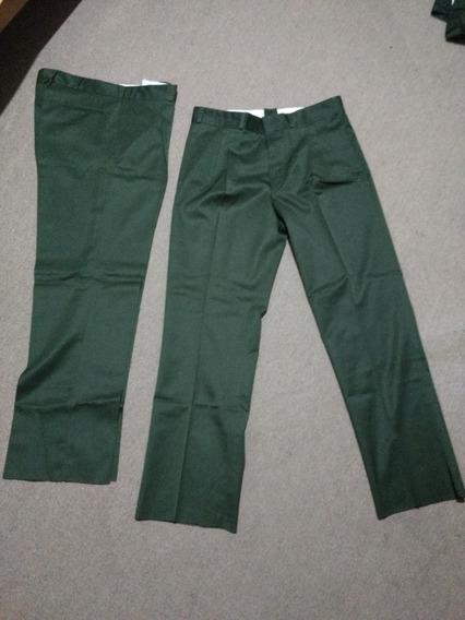 Pantalones De Vestir Pinzados Talle 46 Verdes Nuevos
