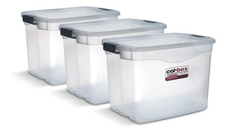 Caja Plastica Megacol X3u 36 Lts C/ Trabas Colombraro