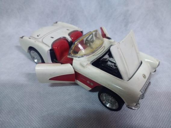 Chevrolet Corvette 1957 Conversível Branco 1/24 Metal