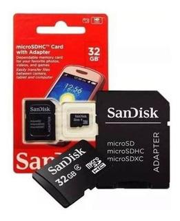 10 Cartão Memória Micro Sd 32gb Classe 4 + Adaptador